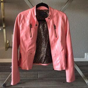 Jackets & Blazers - C'esttoi faux pink leather jacket
